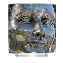 Silver Delores Del Rio Shower Curtain