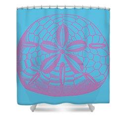 Shower Curtain featuring the digital art Silver Dollars Shell Tee by Edward Fielding