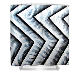 Silver Glass Waves Study 1  Shower Curtain
