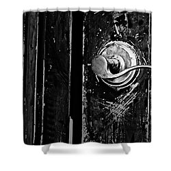Silver Handle Shower Curtain