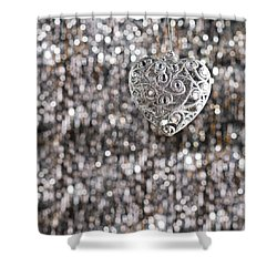 Shower Curtain featuring the photograph Silver Heart by Ulrich Schade