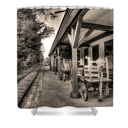 Silver Lake Rail Road 253 Shower Curtain