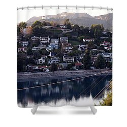 Silver Lake Reservoir And Hollywood Hills Shower Curtain
