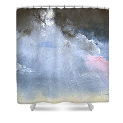 Silver Lining Behind The Dark Clouds Shining Shower Curtain