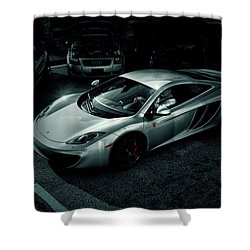 Shower Curtain featuring the photograph Silver Mclaren by Joel Witmeyer