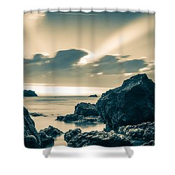 Silver Moment Shower Curtain by Thierry Bouriat