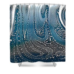 Silver Motes Shower Curtain