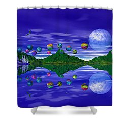 Silver Palace Shower Curtain by Mark Blauhoefer