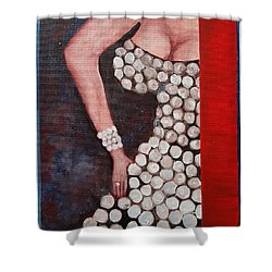 Silver Queen   39 Shower Curtain