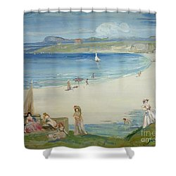 Silver Sands Shower Curtain by Charles Edward Conder