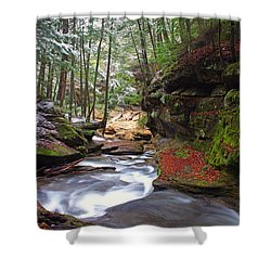 Shower Curtain featuring the photograph Silver Singing River by Jaki Miller