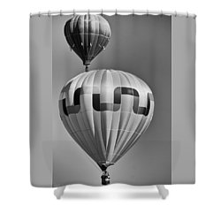 Silver Sky Balloons Shower Curtain