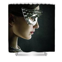 Shower Curtain featuring the photograph Silver Spike Beauty Mask by Dimitar Hristov