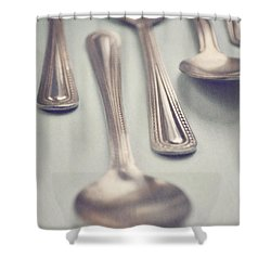 Shower Curtain featuring the photograph Silver Spoons by Lyn Randle