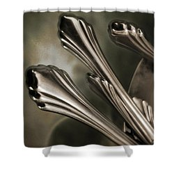 Silver Sprouts Shower Curtain