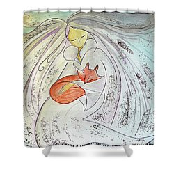 Silver Threads Shower Curtain by Gioia Albano