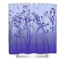 Silver Twilight Shower Curtain
