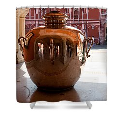Silver Water Urn Jaipur Shower Curtain