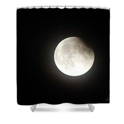 Silver White Eclipse Shower Curtain