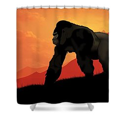 Silverback Gorilla Shower Curtain by John Wills