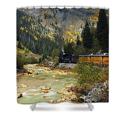 Shower Curtain featuring the photograph Silverton Bound by Kurt Van Wagner