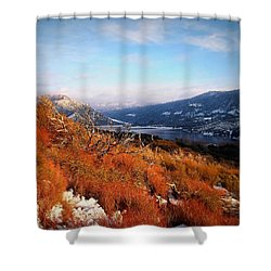 Shower Curtain featuring the photograph Silverwood Lake - California by Glenn McCarthy Art and Photography