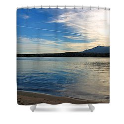 Silvery Reflection Shower Curtain by Kristin Elmquist