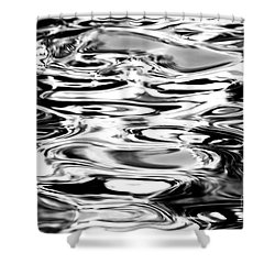Silvery Water Ripples Shower Curtain by Dave Fleetham - Printscapes