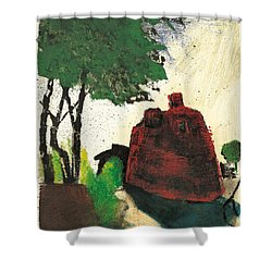 Shower Curtain featuring the painting Simiane La Rotonde by Martin Stankewitz