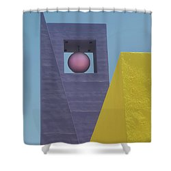 Similar Shapes Different Colors Shower Curtain