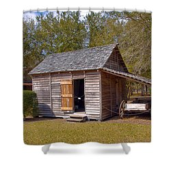 Simmons Cabin Built In 1873 In Orange County Florida Shower Curtain by Allan  Hughes