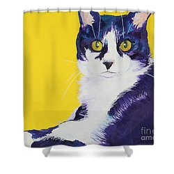 Simon Shower Curtain by Pat Saunders-White