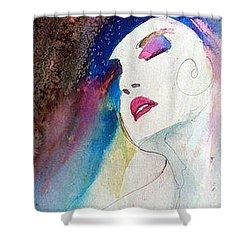 Shower Curtain featuring the painting Simonne by Ed Heaton