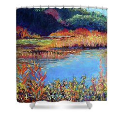 Simpaug Pond In October Shower Curtain