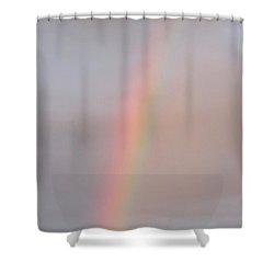 Simple Desert Rainbow Shower Curtain