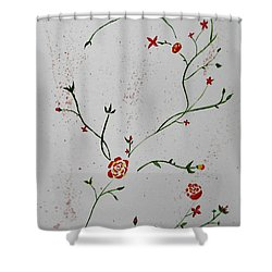 Simple Flowers #1 Shower Curtain