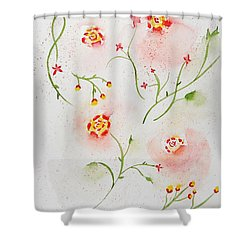 Simple Flowers #2 Shower Curtain