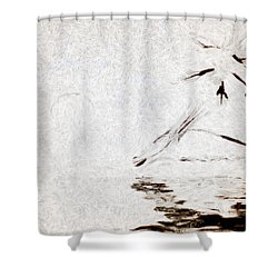 Simple Reflections Shower Curtain by Mario Carini