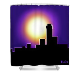 Simple Skyline Silhouette Shower Curtain by Yvonne Blasy