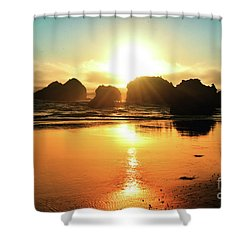 Simple Sunset Shower Curtain