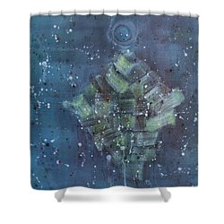 Simpleness Is Happiness Shower Curtain