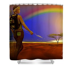 Shower Curtain featuring the digital art Simplicity by Shadowlea Is
