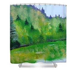 Simply Green Shower Curtain by Rod Jellison