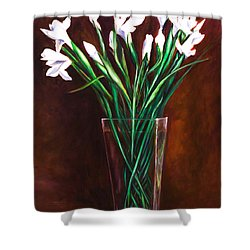 Simply Iris Shower Curtain by Shannon Grissom