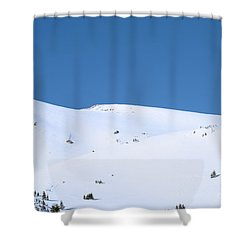 Shower Curtain featuring the photograph Simply Winter by Juli Scalzi