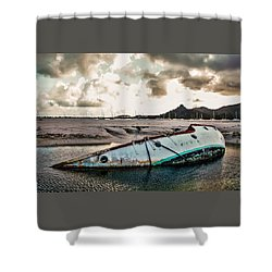Simpson's Bay Shipwreck Shower Curtain