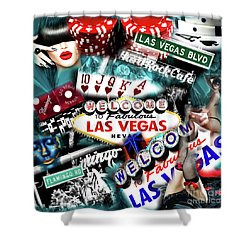 Sin City Shower Curtain by John Rizzuto