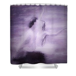Shower Curtain featuring the painting Swan Lake by Jarko Aka Lui Grande