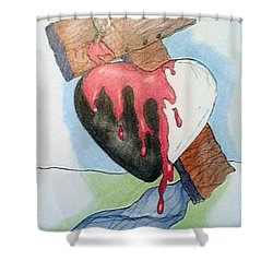 Sin Washer Shower Curtain