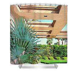 Sinatra Patio Palm Springs Shower Curtain by William Dey